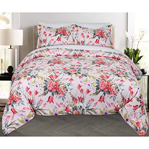 Nouvelle Home Bouquet Cotton Comforter Set - Multi Twin XL 2 Piece