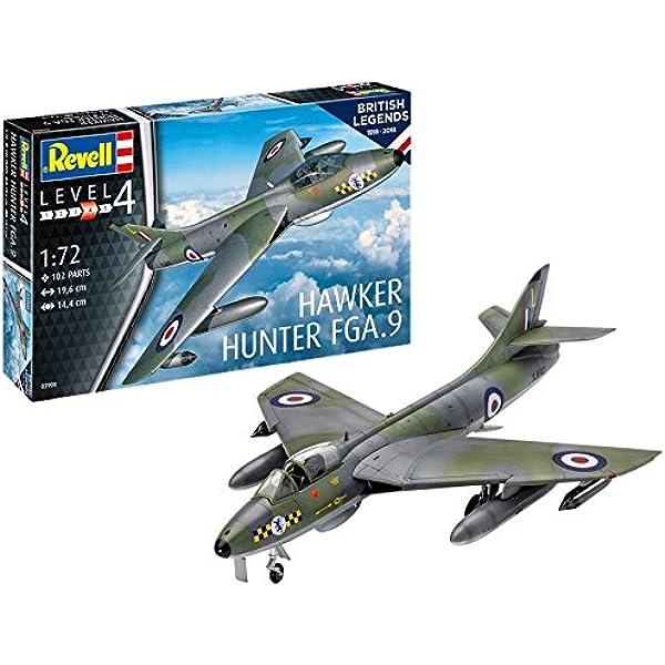 Revell-100 Years RAF: Hawker Hunter FG Maqueta Avión, Multicolor, 1:72 (03908): Amazon.es: Juguetes y juegos