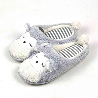 d7c551766c0 NSBM Cotton slippers Slipper Women Striped Bottom Soft Home Slippers Warm  Cotton Shoes Women Indoor Slippers