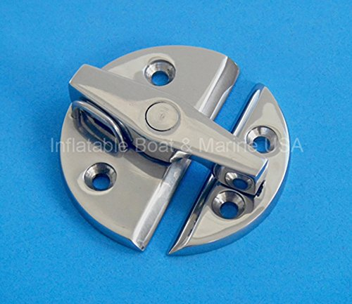Inflatable Boat & Marine USA Boat Latch/Catch Turn Twist Button - Door Cabinet - Large 2-1/4 Marine 316 Stainless steel