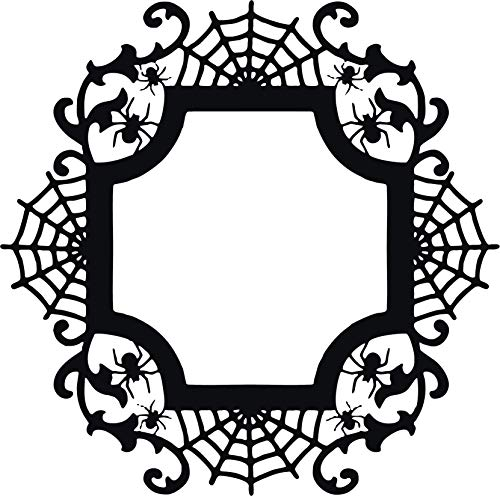 Family Connections Halloween Spider Cameo Frame ~ Black