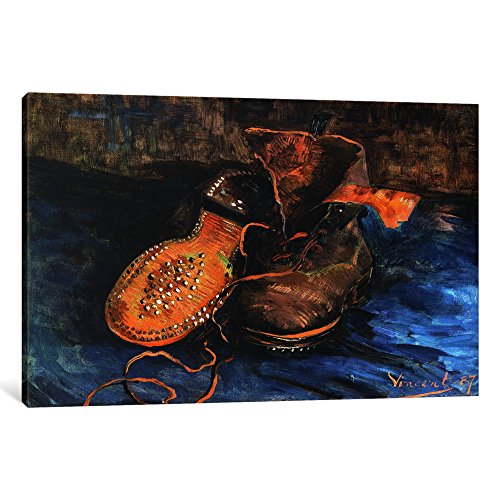iCanvasART 1-Piece A Pair of Shoes Canvas Print by Vincent van Gogh, 0.75 by 12 by 8-Inch (Gogh Vincent Pair Van Shoes)