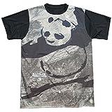 Trevco Mens Kung Fu Panda Brushed PO Adult T-Shirt