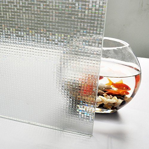 Bloss Small Square Mosaic Privacy Decal Glass Window Vinyl Static Cling Film Opaque(17.7''x 78.7'')
