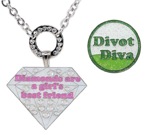 - Navika Magnetic Necklace with Swarovski Crystal Diamonds are a Girl's Best Friend and Glitzy Divot Diva Ball Markers