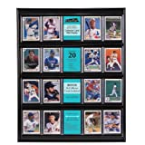 MCS Collector Card 16 X 20 Wall Display, Holds 20 Sports Cards with Black Frame