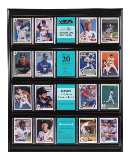 MCS 16x20 Inch Collector Card Wall Display, Holds 20 Sports Cards, Black (52894) -