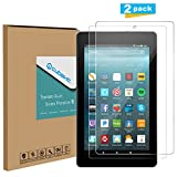 All-New Fire 7 Screen Protector, [2-Pack] Cubevit Tempered Glass Screen Protector for All-New Amazon Fire 7 Tablet 7 Inch (7th Generation,2017 Release Only),Bubble Free/9H Glass Screen for Fire 7 2017