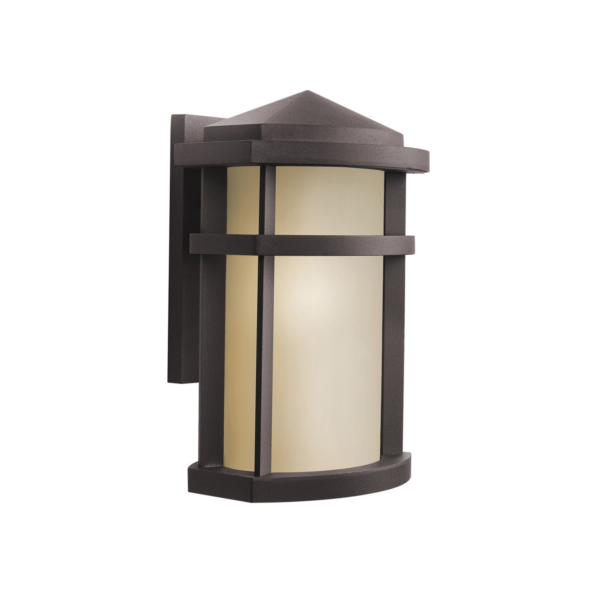 Kichler brushed nickel wall mt 1lt incandescent kichler brushed nickel - Kichler Lighting 9166az Lantana 1 Light Incandescent Outdoor Wall Mount Lantern Architectural Bronze With Light Umber Glass Wall Porch Lights Amazon