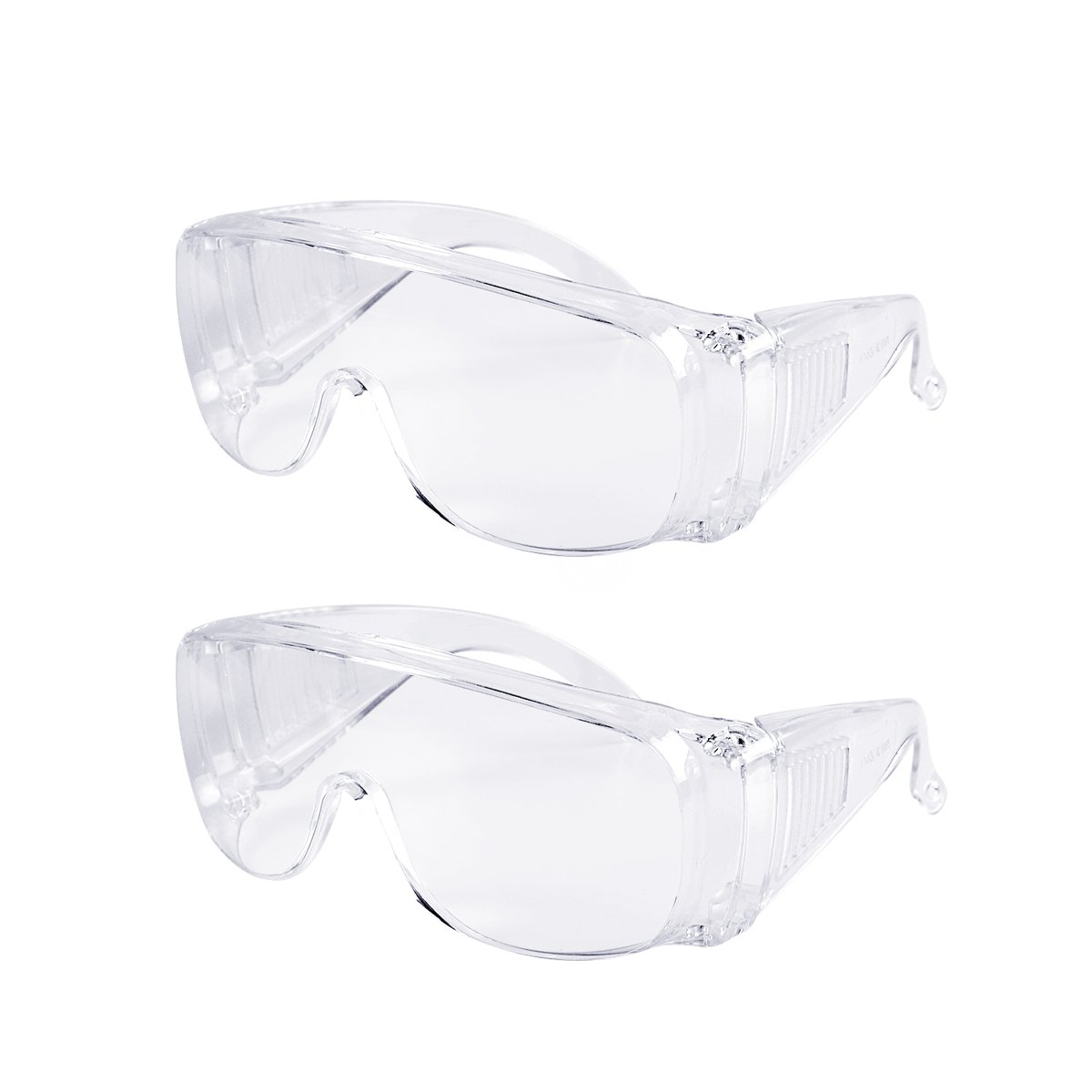 Safety Glasses, Eyewear Personal Protective Equipment / PPE for Construction, DIY, Home Projects & Lab Work (2 Pack)