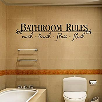 Amazon.com: Powder Room Wall Decal Removable Bathroom Wall Sticker 4 ...