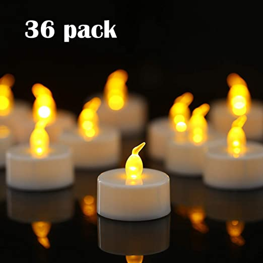 96pcs Battery Tea Lights Candle Flickering Party Wedding LED Electric Tealights