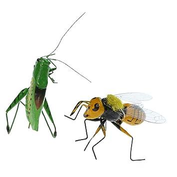 F Fityle 2 Unids Insecto Realistas Arcilla Colorida de Jardín Imán ...