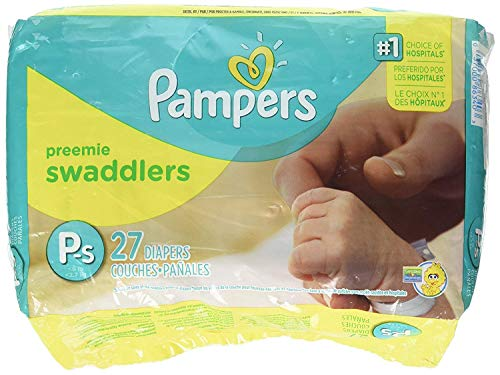 Pampers Swaddlers Preemie Diapers Size P-1 27 count ()