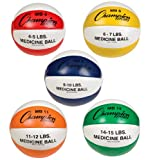Champion Sports Leather Medicine Ball Set of Five