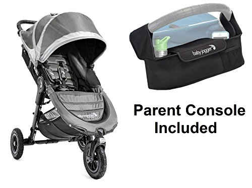 Baby Jogger 2016 City Mini GT Stroller in Steel Grey with Parent Console