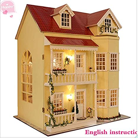 Casa Delle Bambole In Miniatura Misura Grande Con Mobili In Legno