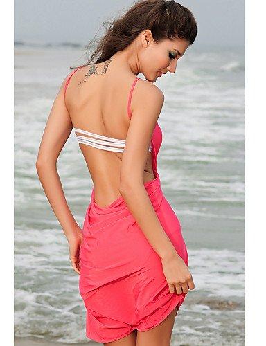 Peach Criss-cross Front Beach-Vertuschung , pink-one-size , pink-one-size