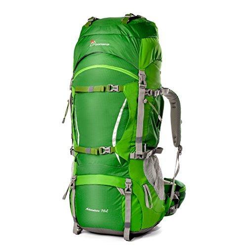 Mountaintop Outdoor Waterproof Hiking mountaineering Internal Frame Backpack 5805 Green
