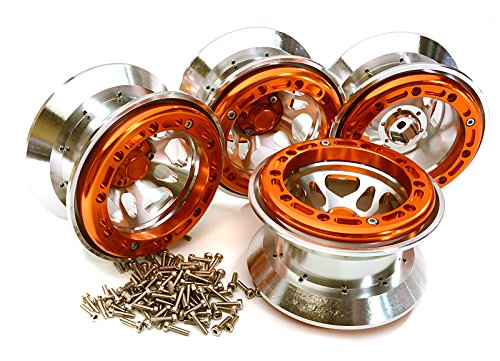 2.2 Beadlock Ring (Integy RC Model Hop-ups C25055ORANGE Billet Machined Alloy Type XI 5S Beadlock 2.2 Wheel(4) Set for 1/10 Rock Crawler)