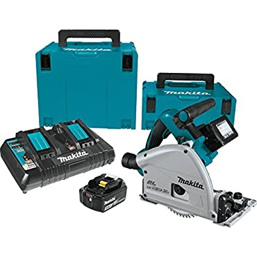 "Makita XPS01PTJ 18V X2 LXT Lithium-Ion (36V) Brushless Cordless 6-1/2"" Plunge Circular Saw Kit (5.0Ah)"