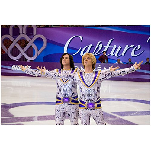 [Blades of Glory Jon Heder as Jimmy MacElroy and Will Ferrell as Chazz Michael Michaels in white with purple costumes 8 x 10 Inch Photo] (Will Ferrell Semi Pro Costume)