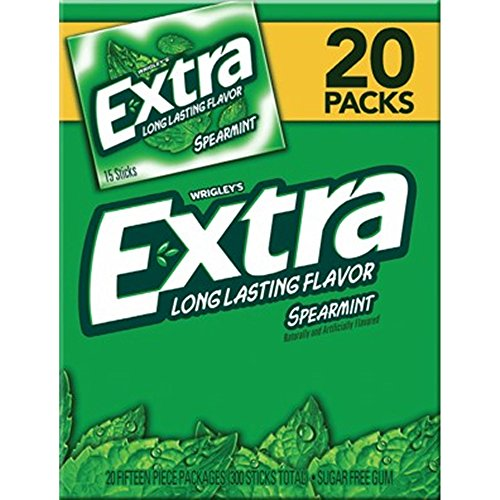 - Wrigley's Extra Spearmint Gum, 20 pk./15 ct.