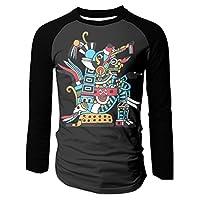 Aztec Warrior Men's Raglan Baseball T-Shirts Long Sleeve Baseball Tees