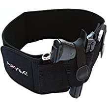 Kaylle Belly Band Holster for Concealed Carry (2018 Upgrade) - Most Comfortable Neoprene Inside Waistband Holster with Elastic Hand Gun Holder - For Men & Women - Fits Glock, Ruger, Sig Sauer, S&W M&P