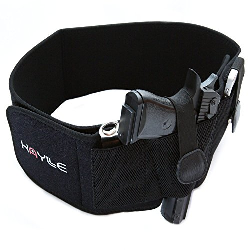 Kaylle Belly Band Holster for Concealed Carry - Most Comfortable Neoprene Inside Waistband Holster with Elastic Hand Gun Holder - For Men and Women (right)