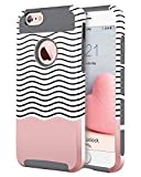 iPhone 6 Cases, iPhone 6S Case, BENTOBEN 2 Piece Slim iPhone 6 Covers Hard Shell Soft TPU Dual Layer Shockproof Bumper Chevron Wave Hybrid Protective Covers for iPhone 6 6S 4.7 Inch, Grey