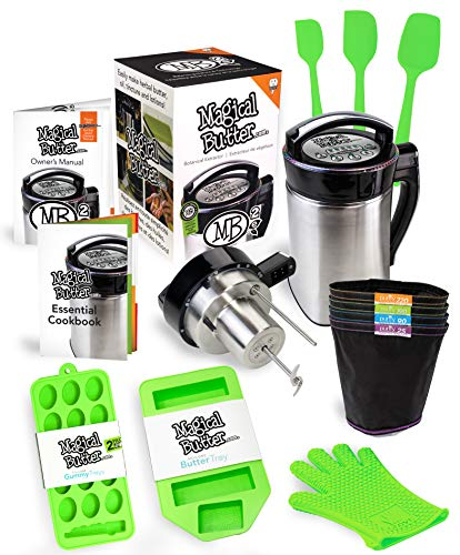 Magical Butter MB2E Botanical Extractor Machine Complete Kit with Magical Butter official 7 page Cookbook and Accessories