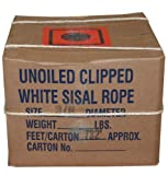 T.W . Evans Cordage 23-200 1/4-Inch by 1500-Feet Twisted Sisal Rope