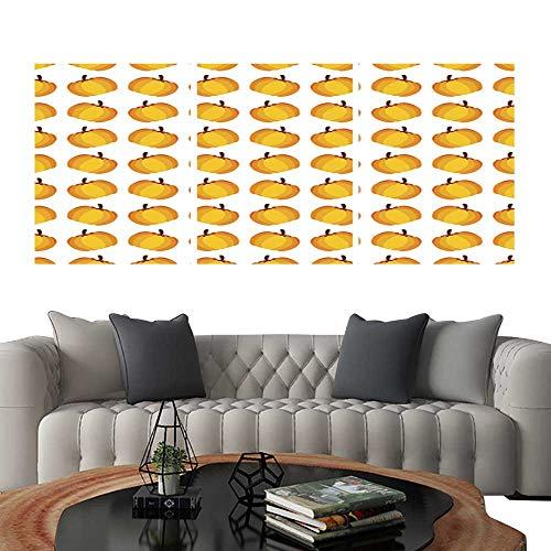 UHOO Modern Flowers PaintingOrange Holiday Seamless Halloween Pumpkin Pattern. Bedroom Home Decorations 16