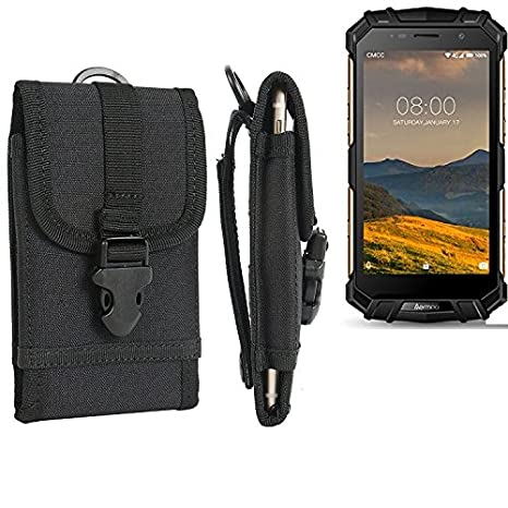 l'ultimo 40acb 64cb8 Per Aermoo M1 marsupio custodia cassa del telefono calotta di protezione  Smartphone sacchetto holster cintura nero pianura semplice eleganza ...