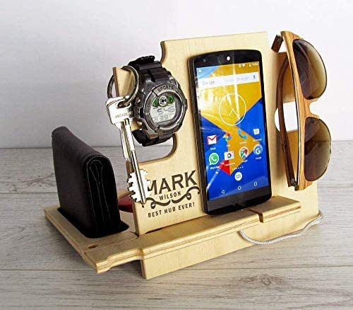Amazon.com: Personalized Gift for Men, Wooden Docking ...