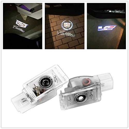 cadillac ATS SRX XTS XT6 Easy Installation Car Door LED Welcome Logo Projector Ghost Shadow Lights 2-pc Set (Logo.4)