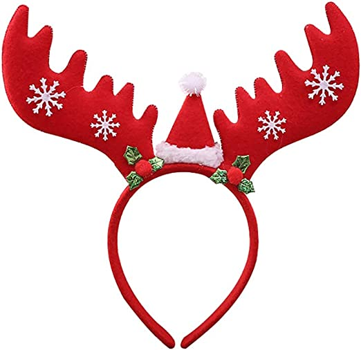 kentop Navidad Cinta Reno Headwear Unisex Pelo para adultos y ...