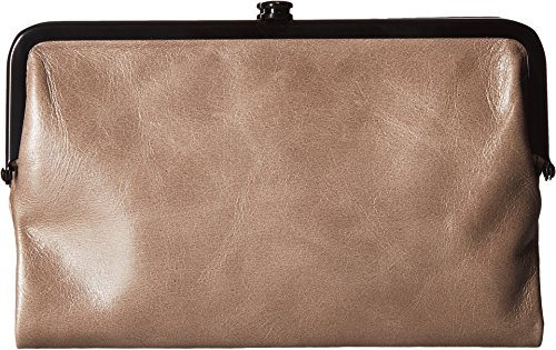 Hobo Womens Glory Vintage Leather Clutch Wallet (Ash) by HOBO