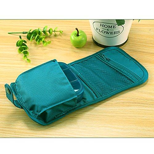 Mini Travel First Aid Kit, Weekly Pill Organizer Pill Box 7 Days Purse for Car Plane Trip by Rachsa (Blue) by Rachsa (Image #1)