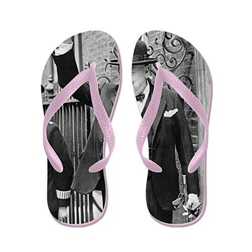 Cafepress Winston Churchill - Flip Flops, Grappige String Sandalen, Strand Sandalen Roze