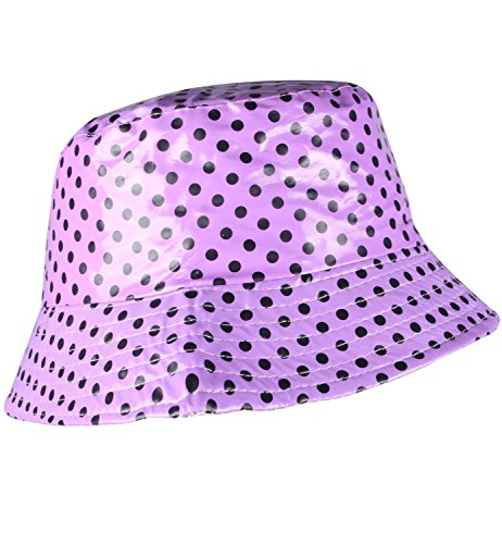 Bucket Rain Hat Purple Floppy Hat Packable Rain Hat Wide Brim Purple Hat