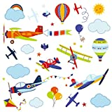 Airplanes Nursery Nursery/Boys Room Peel & Stick Wall Art Sticker Decals