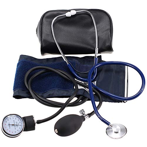 Aneroid Sphygmomanometer and Stethoscope Kit, LotFancy Manual Blood Pressure Monitor, Adult BP Cuff (10-16