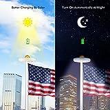 Sunix Solar Flag Pole Lights 30 LED, IP65