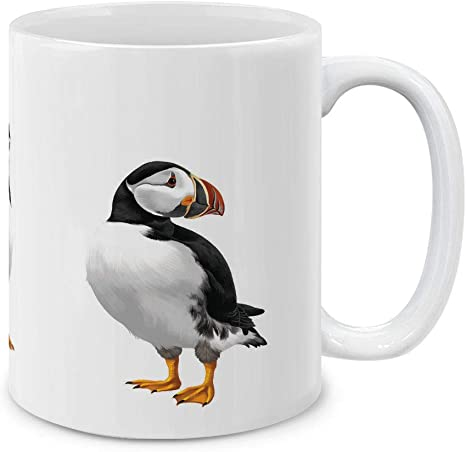 Amazon Com Mugbrew Atlantic Puffin Birds Ceramic Coffee Gift Mug Tea Cup 11 Oz Kitchen Dining