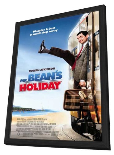 Mr. Bean's Holiday 27 x 40 Movie Poster - Style A - in Deluxe Wood Frame