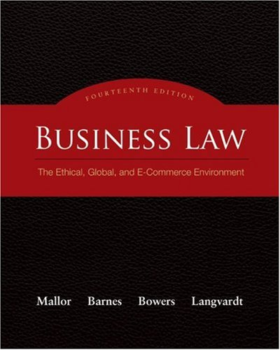 Pdf Law Business Law: The Ethical, Global, and E-Commerce Environment