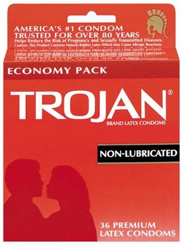 Trojan Latex Condoms, Non-Lubricated, 36-Count Boxes (Pack of (Dry Non Lubricated Condoms)