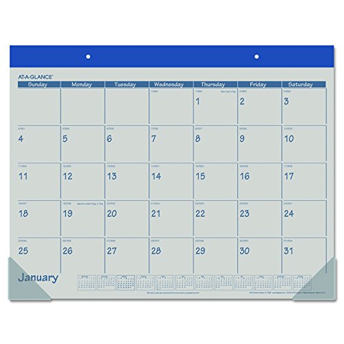 AT-A-GLANCE Desk Pad Calendar 2017, 21-3/4 x 17